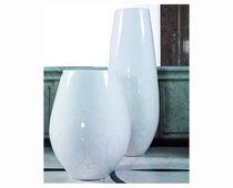 contemporary glass vase WHITE Kler