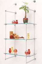 contemporary glass wall shelf 4800CH  CR Laurence 
