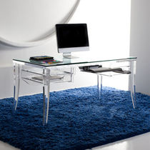 contemporary glass writing desk LAWRENCE  Haziza