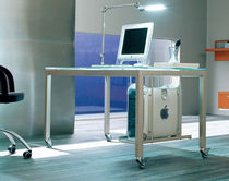 contemporary glass writing desk AVANTGARDE by S.T.C. Calligaris Italian home design since 1923