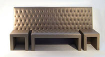 contemporary headboard upholstered in leather for double bed SNAKE duwel