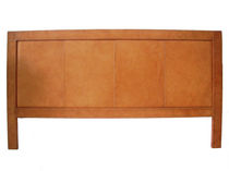 contemporary headboard upholstered in leather for double bed  SOL & LUNA