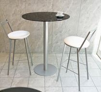 contemporary high bar table with glass 757-A Domitalia
