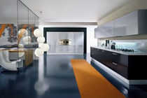 contemporary high gloss lacquered kitchen OUTLINE Pedini