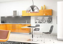 contemporary high gloss lacquered kitchen CRONOS Corazzin Group - Contract & hotel