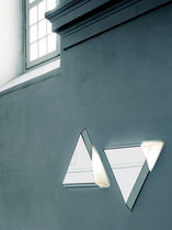contemporary illuminated mirror LIFE by Nanda Vigo GLAS ITALIA