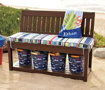 contemporary kids garden bench (with backrest) CHESAPEAKE Pottery Barn Kids