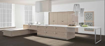 contemporary lacquer kitchen (with island) CRISTAL AND ECLISSE Corazzin Group - Contract & hotel