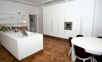 contemporary lacquer kitchen (with island) PRIVATE INTERIOR by Uldis Pimberis Design Group IN