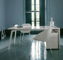 contemporary lacquered office desk WORK & LOOK by Pagnon & Pelhaître  Ligne Roset France