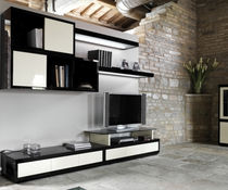 contemporary lacquered TV wall unit LUCE  Isam