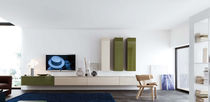 contemporary lacquered TV wall unit G023 NOVAMOBILI