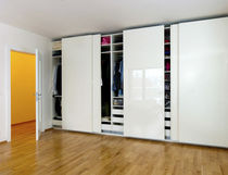 contemporary lacquered wardrobe with sliding doors  LUGI