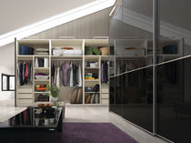 contemporary lacquered wardrobe with sliding doors ESENZIA black Baixmoduls