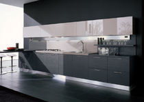 contemporary laminate kitchen (imitation wood) MATRIX Corazzin Group - Contract &amp; hotel