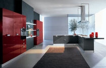 contemporary laminate kitchen (imitation wood) FUTURA Corazzin Group - Contract &amp; hotel