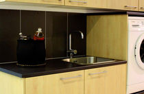 contemporary laminate kitchen (imitation wood) CUZCO DARK ALLOC