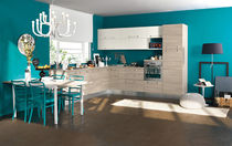 contemporary laminate kitchen (imitation wood) DM0152 pensarecasa.it