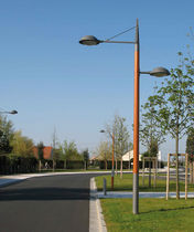 contemporary lamp post DÔME XL 7M AUBRILAM