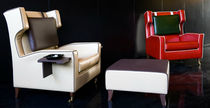 contemporary leather armchair GARIBALDI by Luca Scacchetti Domodinamica by Modular