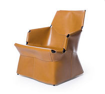 contemporary leather armchair CUIR LOUNGE  by Palomba Serafini SKITSCH