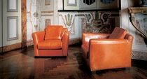 contemporary leather armchair DINER baxter
