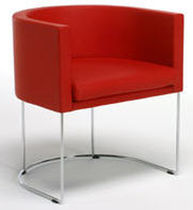 contemporary leather armchair COURT by Piero Lissoni MATTEOGRASSI