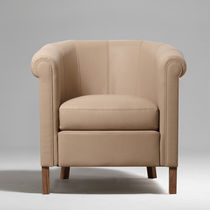 contemporary leather armchair FEELING Fleurdebasane