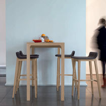 contemporary leather bar stool LAIA by Jean-Louis Iratzoki Alki