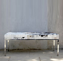 contemporary leather bench NGUNI Lodge Collection