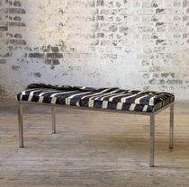 contemporary leather bench ZEBRA HIDE Lodge Collection