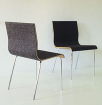 contemporary leather chair SLOW  Sanktjohanser
