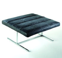 contemporary leather footstool SELF by Giuseppe Viganò Rivolta e la pelle