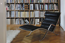 contemporary leather lounge chair FK 87 GRASSHOPPER by P.Fabricius & J.Kastholm Lange Production