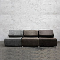 contemporary leather modular sofa GUEST Lodge Collection