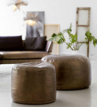 contemporary leather pouf CILINDRICO mimo contract