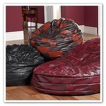 contemporary leather pouf BEANBAGS Saxon Leather Upholstery