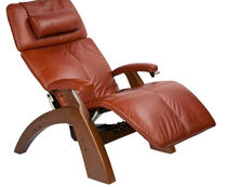 contemporary leather recliner armchair with footstool PC-095 Human Touch