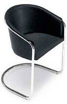 contemporary leather sled base chair PAMELA Arrben di Benvenuto Ottorino
