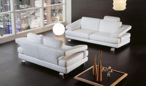 contemporary leather sofa STORM Poles Salotti