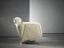 contemporary leather swivel armchair HEIT swivel chair & ottoman Piet Boon Collection