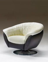 contemporary leather swivel armchair BRASILIA Satis