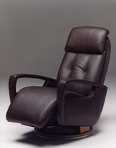contemporary leather swivel armchair INDIA Satis