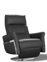 contemporary leather swivel armchair NIKITA Satis