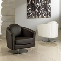 contemporary leather swivel armchair ASIA  Max Divani