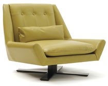 contemporary leather swivel armchair PALMS II CHAIR VIOSKI