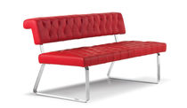 contemporary leather upholstered bench JANET by Tiziano Formenti Formenti