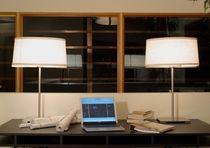 contemporary linen table lamp ST. HELENA by Michael Vanderbyl BOYD