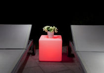 contemporary luminous garden coffee table CUBE Imagilights