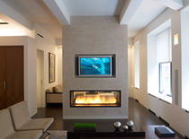 contemporary mantel for built-in fireplace NEW YORK NY Get Real Surfaces